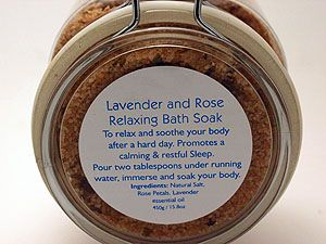 Lavender and Rose Bath Soak